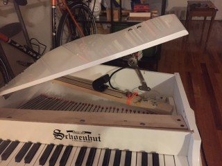 one of the toy pianos modified for 'Snow'